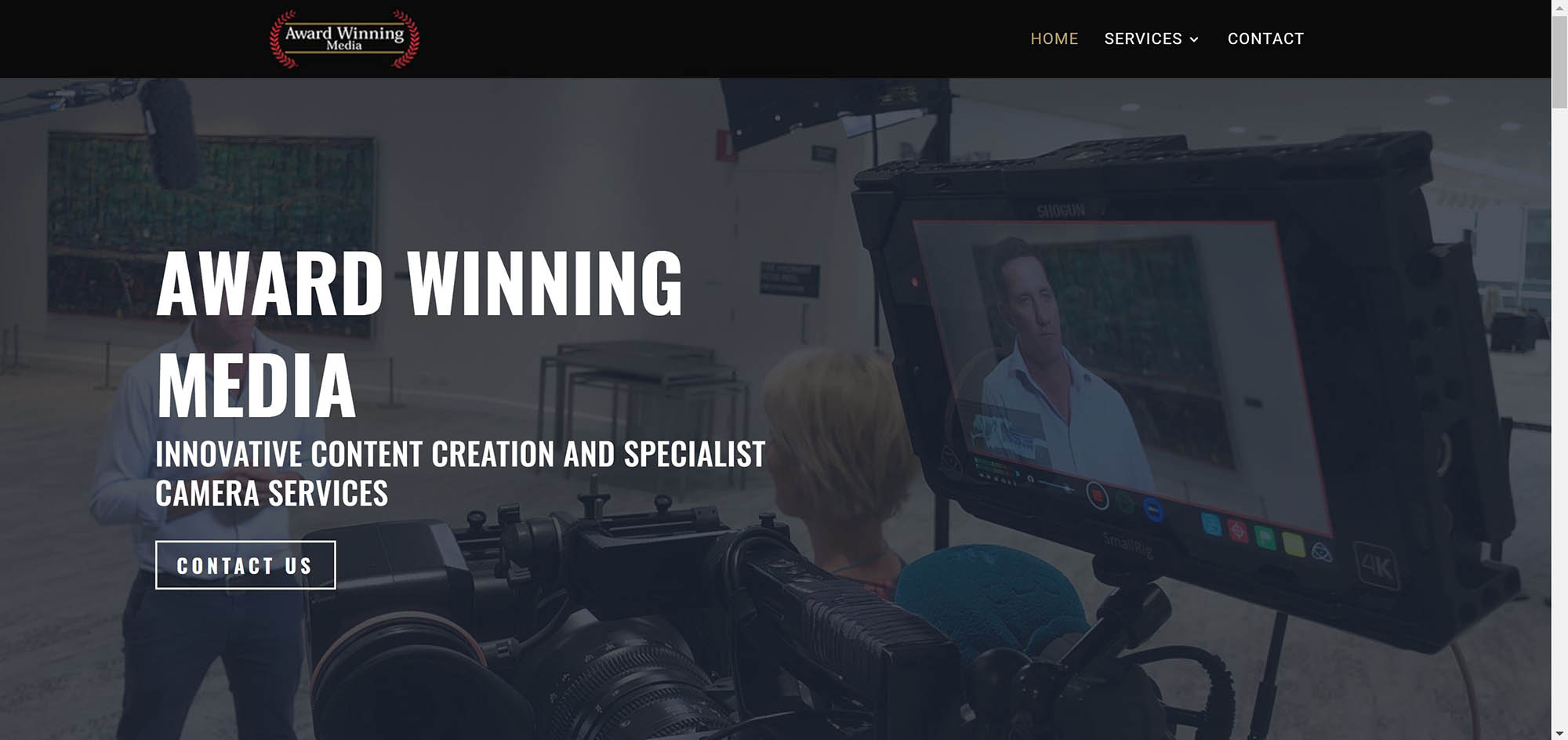 Award Winning Media Home Page by TC Web